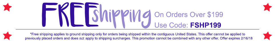 Free Shipping on orders over $199