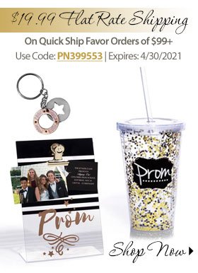 $19.99 Flat rate Shipping on Quick Ship Favor orders of $99+