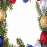 0150 - Glitter Ornaments & Pines
