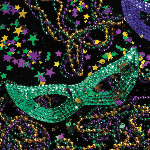 1233 - Mardi Gras Mask and Bead