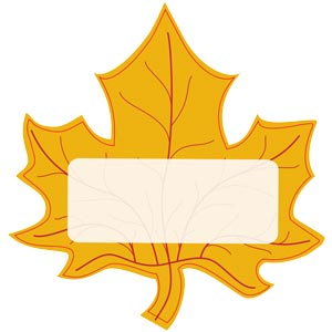 1445 - Leaf Sticker