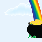 1555 - Rainbow and Pot of gold