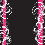 1830 - Black and Pink filigree