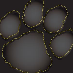 2812 - Paw Offset Outline