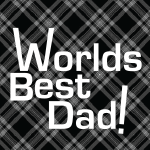 3371 - Plaid fathers day button