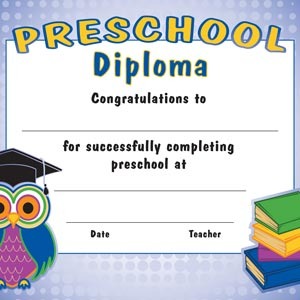 3550 - owl with books diploma