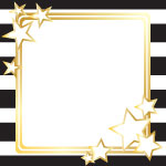 4308 - Black Stripes with Gold
