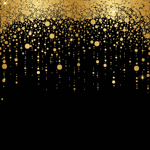 4958 - Gold Cascading Dots