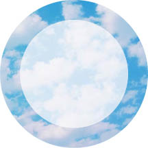 1366 - Blue Sky and White cloud