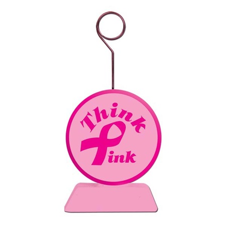 Pink Ribbon Photo Holder/Balloon Weight
