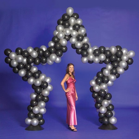 Star balloon arch kit prom nite
