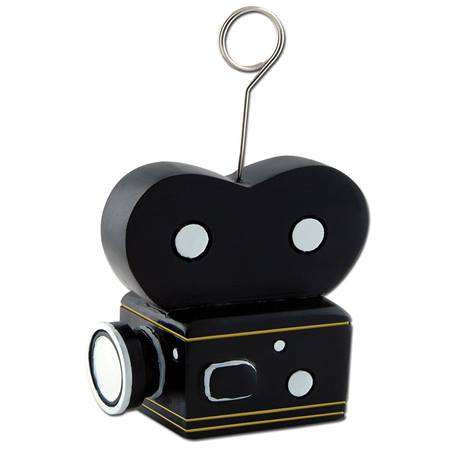 Movie Camera Photo or Balloon Holder