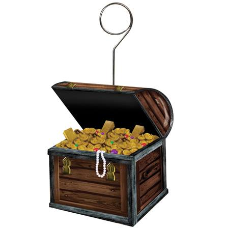 Treasure Chest Photo or Balloon Holder