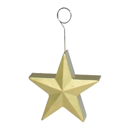 Gold Star Photo or Balloon Holder
