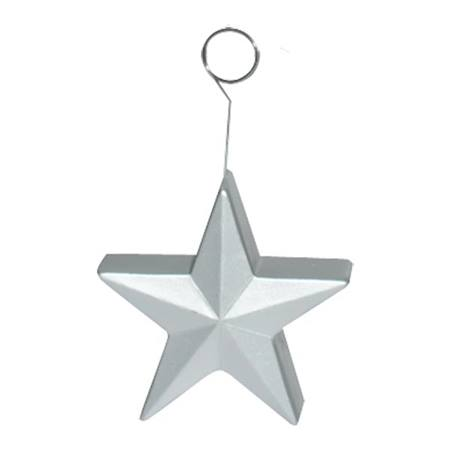 Silver Star Photo or Balloon Holder