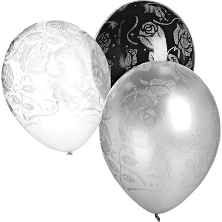 Latex Balloons – Glitter Rose