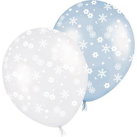 Latex Balloons - Assorted Snowflake  50 per pkg.