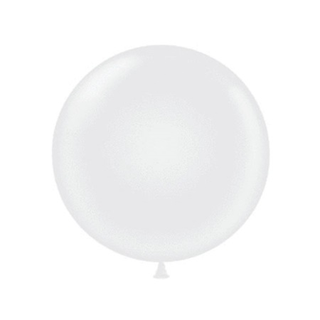 Jumbo Size 72 in. White Balloon