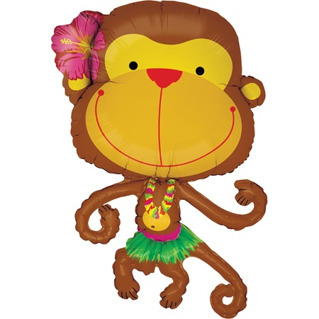 Metallic Monkey Balloon