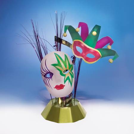 Mardi Gras Masks Centerpieces (set of 4)