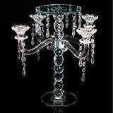 4-Arm Crystal Candelabra Centerpiece