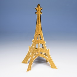 Glittered Eiffel Tower Centerpiece - Gold