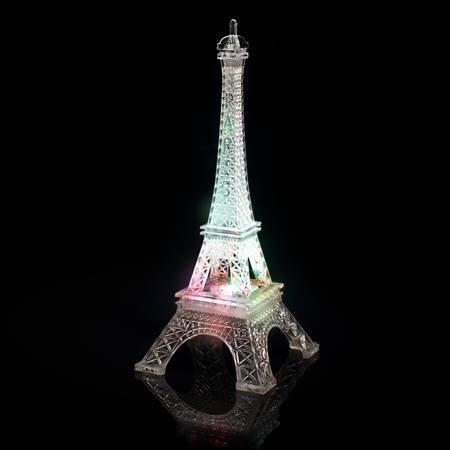 Color-changing Eiffel Tower Centerpiece