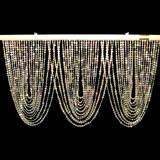 Iridescent Crystal Swag Curtain