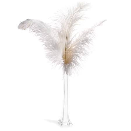 Prom Centerpiece Kit - White Ostrich Feather