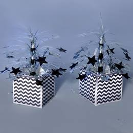 Zippy Silver Zig Zag Centerpieces Kit (set of 2)