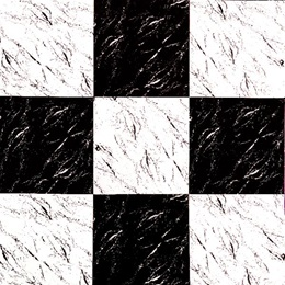 Checkerboard Flat Paper - White and Black Marble