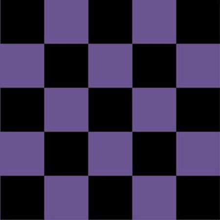 Checkerboard Flat Paper - Purple and Black
