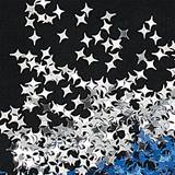 Silver 4-point Star Confetti – 1 Pound