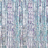 Holographic Silver and Iridescent Curtain