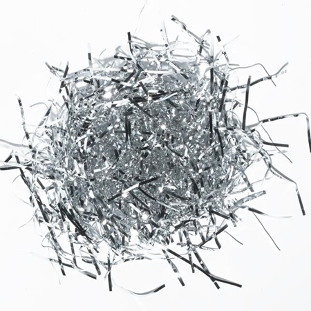 Silver Tinsel Accent Shreds
