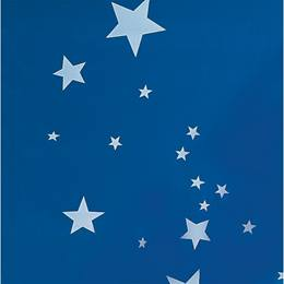 Flame Retardant Stars on Blue Poly vinyl