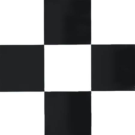 Flame Retardant White and Black Checkered Poly Vinyl