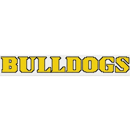"""Bulldogs"" Fence Decoration"