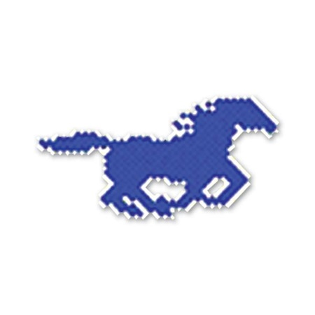 Galloping Mustang Design Fence Decoration