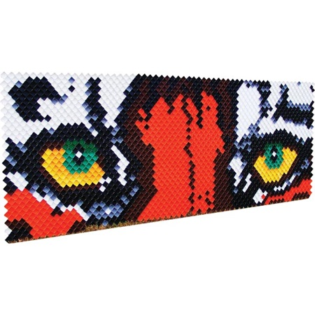 Tiger Eyes Design Fence Decoration