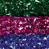 Metallic Color Floral Sheeting - 10 yds.