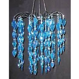 Teardrop Gems Chandelier - Blue