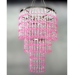 Pretty in Pink Chandelier