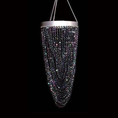 Diamond Shower Chandelier - Black