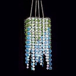 Square Sensation Chandelier - Blue and Green