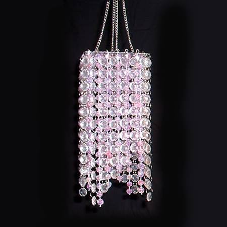Square Sensation Chandelier - Pink