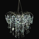 Large Iridescent Cascade Chandelier