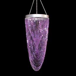 Diamond Shower Chandelier - Purple