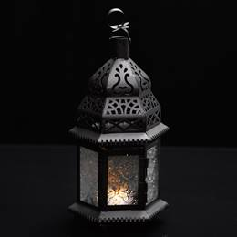 Moroccan Hanging Lantern - Clear Glass