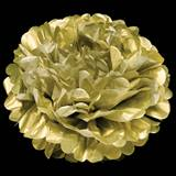 Metallic Gold Flower Tissue Ball